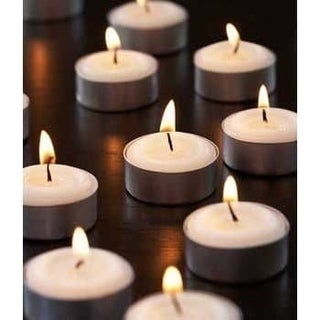 Set of 100 White Unscented Decorative Tealight Candles