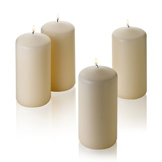 Ivory Pillar Unscented Candles (Set of 4)