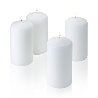 White Unscented 6 Inch Pillar Candle