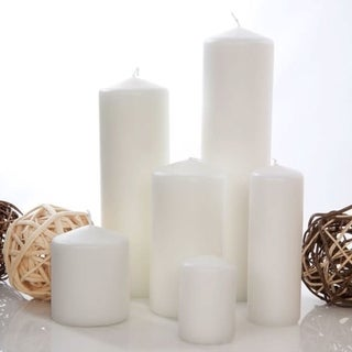 White Unscented 9 Inche Pillar Candle