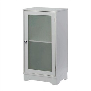 Contemporary White Single Door Cabinet