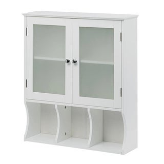 Wall Mounted White Space Saver Display Cabinet