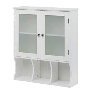 Wall Mounted Bathroom Cabinet. Wall Mounted White Space Saver Display Cabinet Bathroom Cabinets  Storage For Less Overstock com
