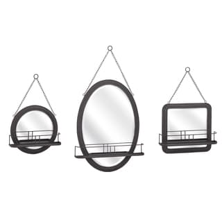 "Ella Elaine Shaving Mirrors - Set of 3 (22-25-26.5""h x 14-18.5-16.5""w x 4.5"")"