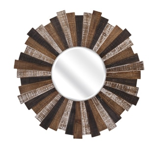 "Wood Starburst Mirror (33""d x 1"")"