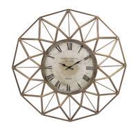 "Banyan Wall Clock (33""d x 3.5"") - Gold - A/N"