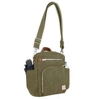 Travelon Heritage Anti-theft Tour Vertical Crossbody Messenger Bag (3 options available)
