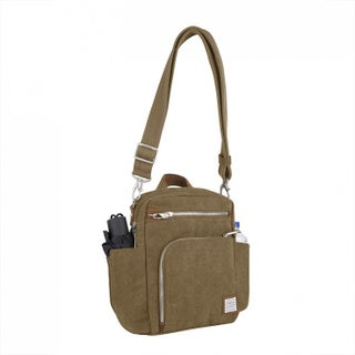 Travelon Heritage Anti-theft Tour Vertical Crossbody Messenger Bag (Option: Beige)