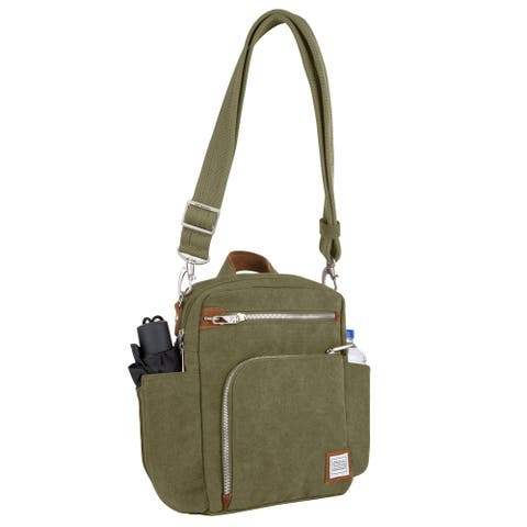 Travelon Heritage Anti-theft Tour Vertical Crossbody Messenger Bag