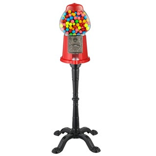 Great Northern 37 inch Vintage Gumball Machine Bank with Stand
