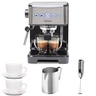 Capresso Ultima PRO Programmable Espresso & Cappuccino Machine + (2) Cappuccino Cups + Pitcher + Frother