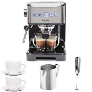 Capresso Ultima PRO Programmable Espresso & Cappuccino Machine + (2) Cappuccino Cups + Pitcher + Frother