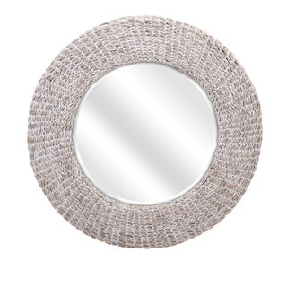 "Madiera Waterhyacinth Wall Mirror (32.5""d x 2"")"