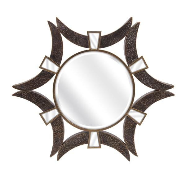 Saburo wall mirror 36 5 h x 36 5 w x 2 5 bronze for 4 x 5 wall mirror