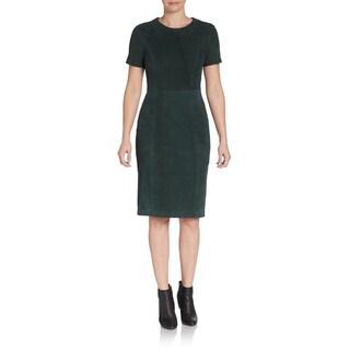Elie Tahari Emily Evergreen Suede Dress