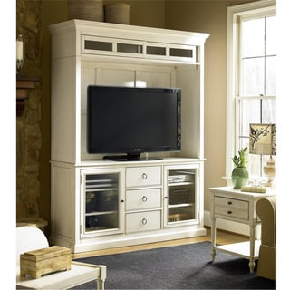 Summer Hill Entertainment Console with Deck in Cotton Finish