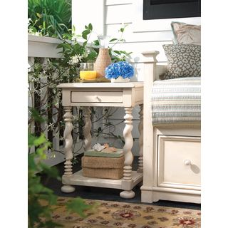 Paula Deen Home Sweet Tea Side Table in Linen Finish