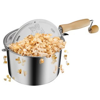 Great Northern Popcorn Original Stainless 6.5 Quart Stove Top Popcorn Popper