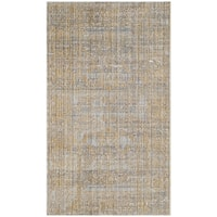 Safavieh Valencia Grey/ Gold Distressed Silky Polyester Rug - 3' x 5'