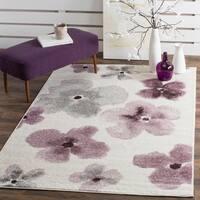 Safavieh Adirondack Floral Watercolor Ivory / Purple Rug - 4' x 6'
