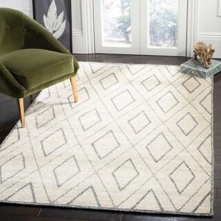 Safavieh Hand-knotted Stone Wash Beige/ Grey Wool Rug (4' x 6')