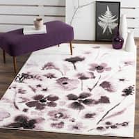 Safavieh Adirondack Vintage Floral Ivory / Purple Rug - 5'1 x 7'6