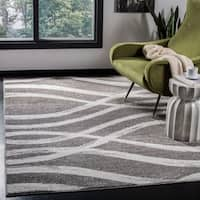 Safavieh Adirondack Modern Charcoal/ Ivory Rug - 8' x 10'