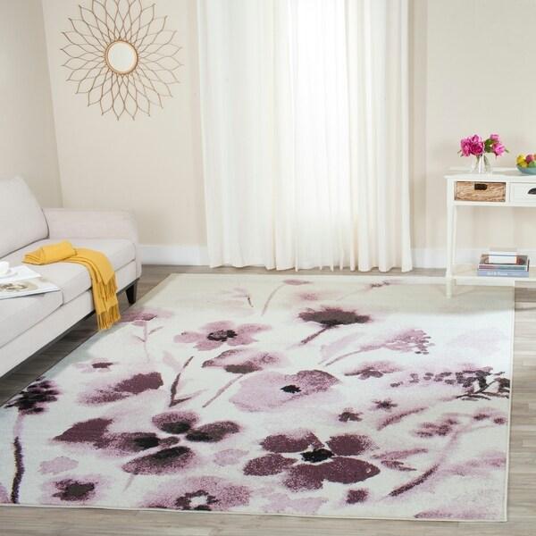 Safavieh Adirondack Vintage Floral Ivory / Purple Rug - 8' x 10'