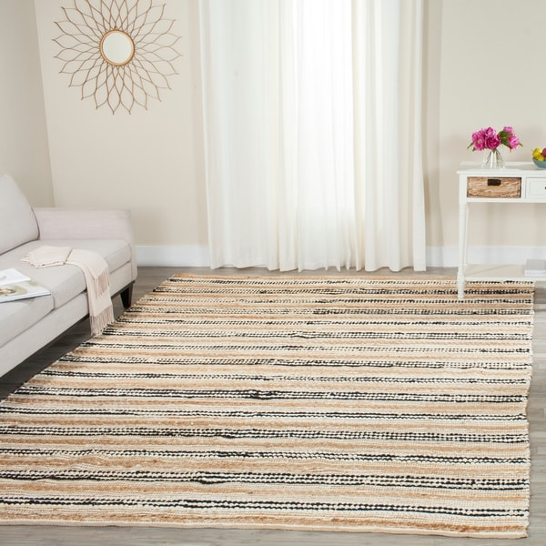 Safavieh Cape Cod Handmade Natural / Black / Jute Natural Fiber Rug - 8' x 10'