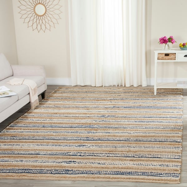 Safavieh Cape Cod Handmade Natural / Blue / Jute Natural Fiber Rug - 8' x 10'