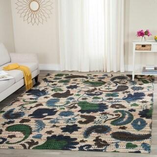 Safavieh Handmade Cedar Brook Blue/ Multi Jute Rug (8' x 10')