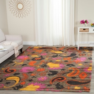 Safavieh Handmade Cedar Brook Brown/ Multi Jute Rug (8' x 10')