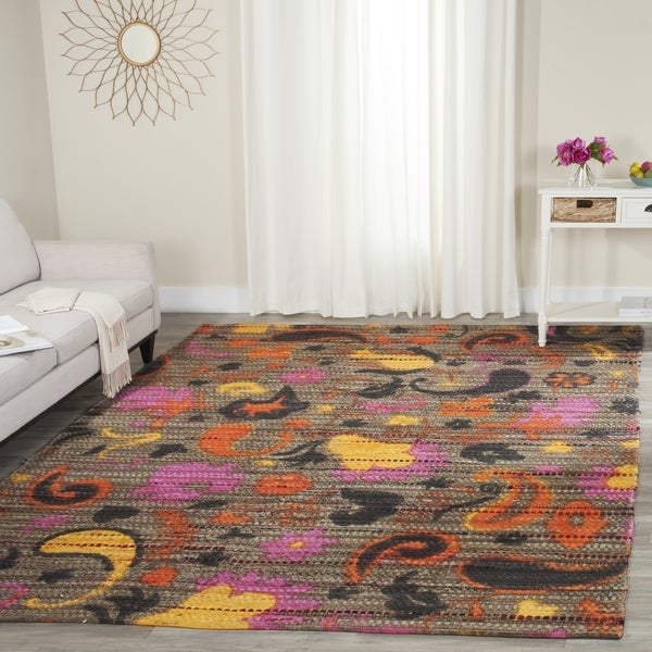 Safavieh Handmade Cedar Brook Brown/ Multi Jute Rug - 8' x 10'
