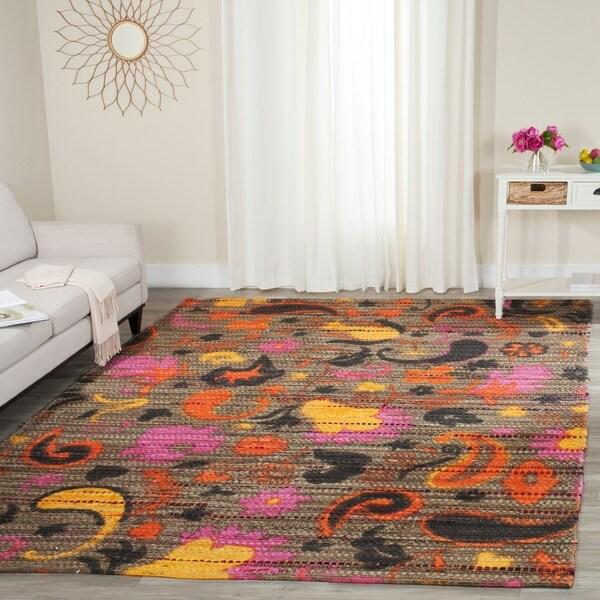 Safavieh Handmade Cedar Brook Brown/ Multi Jute Rug - 8' x 10'