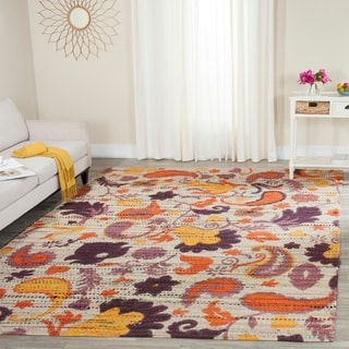 Safavieh Handmade Cedar Brook Orange/ Multi Jute Rug (8' x 10')