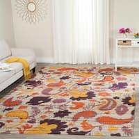 Safavieh Handmade Cedar Brook Orange/ Multi Jute Rug (8' x 10')