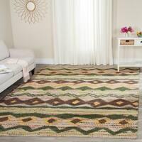 Safavieh Handmade Cedar Brook Green/ Multi Jute Rug - 8' x 10'