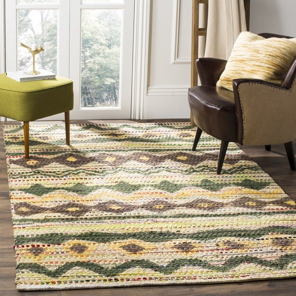Safavieh Handmade Cedar Brook Green/ Multi Jute Rug - 8' x 10'