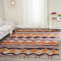 Safavieh Handmade Cedar Brook Orange/ Multi Jute Rug - 8' x 10'