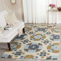 Safavieh Handmade Blossom Beige/ Multi Wool Rug (2'3 x 8')
