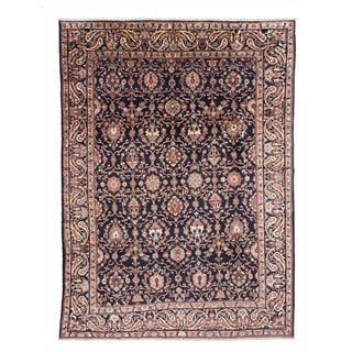 ecarpetgallery Hand-Knotted Persian Nahavand Blue Wool Rug (10'5 x 13'5)