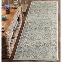 Safavieh Persian Garden Vintage Oriental Light Blue/ Ivory Distressed Silky Viscose Rug - 2' 2 x 8'