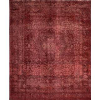 ecarpetgallery Hand-Knotted Persian Vogue Red Wool Rug (9'10 x 12'1)