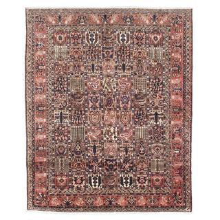 ecarpetgallery Hand-Knotted Persian Bakhtiar Blue, Brown Wool Rug (9'10 x 12'0)