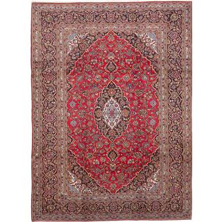 ecarpetgallery Hand-Knotted Persian Kashan Red Wool Rug (8'3 x 11'5)