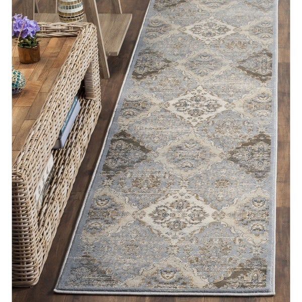 Safavieh Vintage Light Blue/ Ivory Distressed Rug (2' 2 x 8')