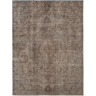 ecarpetgallery Hand-Knotted Persian Vogue Green Wool Rug (7'11 x 10'8)