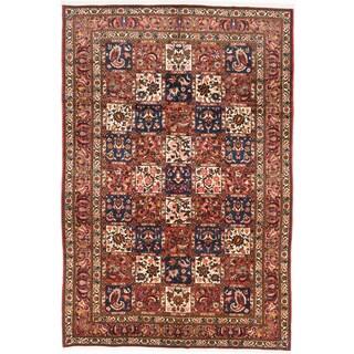 ecarpetgallery Hand-Knotted Persian Bakhtiar Beige, Brown Wool Rug (6'10 x 10'0)