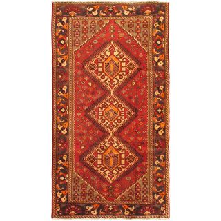 ecarpetgallery Hand-Knotted Persian Bakhtiar Red Wool Rug (5'2 x 9'8)