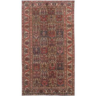 ecarpetgallery Hand-Knotted Persian Bakhtiar Brown, Red Wool Rug (5'3 x 9'4)